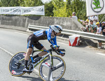 Le cycliste Leopold Konig - Tour de France 2014 Photo libre de droits