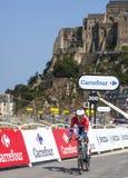 Le cycliste Lieuwe Westra Photos libres de droits