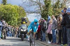 Le cycliste Lieuwe Westra - 2016 Paris-gentil Image stock