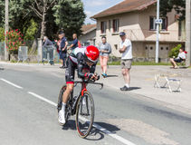 Le cycliste Louis Meintjes - Criterium du Dauphine 2017 Images libres de droits