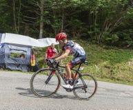 Le cycliste Louis Meintjes - Tour de France 2017 image libre de droits
