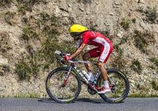 Le cycliste Luis Angel Mate Mardones Photo stock
