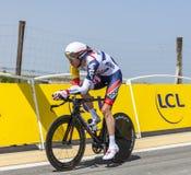 Le cycliste Marcel Sieberg Photo libre de droits