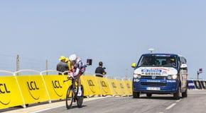 Le cycliste Marcel Sieberg Image libre de droits