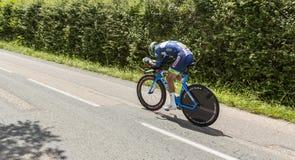 Le cycliste Marco Minnaard - Criterium du Dauphine 2017 Image libre de droits