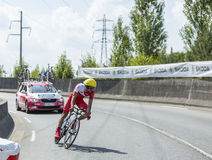 Le cycliste Mate Mardones - Tour de France 2014 Image libre de droits