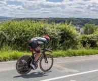 Le cycliste Matteo Bono - Criterium du Dauphine 2017 Images stock