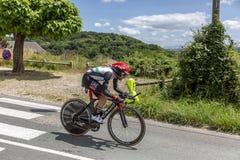 Le cycliste Matteo Bono - Criterium du Dauphine 2017 Photographie stock libre de droits