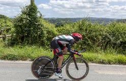 Le cycliste Matteo Bono - Criterium du Dauphine 2017 Image libre de droits