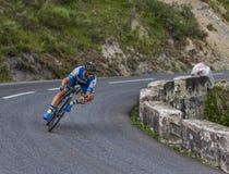 Le cycliste Michael Albasini Images libres de droits