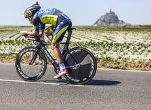 Le cycliste Michael Rogers Photographie stock libre de droits