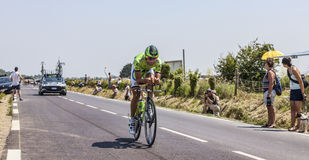 Le cycliste Moreno Moser Photo stock