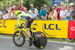 Le cycliste Nathan Haas - Tour de France 2015 Photographie stock libre de droits