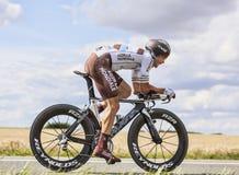 Le cycliste Nicolas Roche Image stock