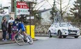 Le cycliste Niki Terpstra - 2016 Paris-gentil photographie stock libre de droits
