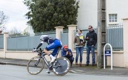 Le cycliste Niki Terpstra - 2016 Paris-gentil photographie stock