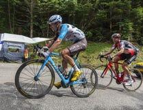 Le cycliste Pierre Latour - Tour de France 2017 image libre de droits