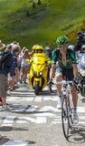 Le cycliste Pierre Rolland Photos stock