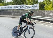 Le cycliste Pierre Rolland - Tour de France 2014 Photographie stock libre de droits
