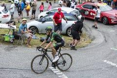 Le cycliste Pierre Rolland - Tour de France 2015 Image libre de droits