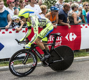 Le cycliste Rafal Majka - Tour de France 2015 image libre de droits