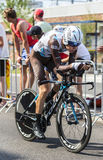 Le cycliste Romain Bardet - Tour de France 2015 Photos stock