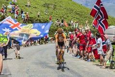Le cycliste Romain Sicard Images libres de droits