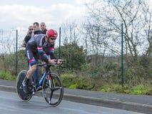 Le cycliste Roy Curvers - 2016 Paris-gentil Images stock