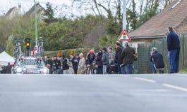 Le cycliste Roy Curvers - 2016 Paris-gentil Photo stock