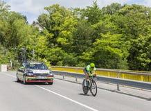 Le cycliste Sebastian Langeveld - Criterium du Dauphine 2017 Photo stock