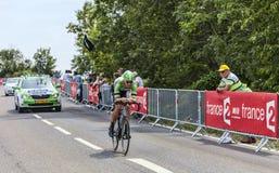 Le cycliste sept Vanmarcke Images libres de droits