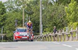 Le cycliste Sonny Colbrelli - Criterium du Dauphine 2017 Photo stock
