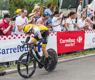 Le cycliste Steven Kruijswijk - Tour de France 2015 Images libres de droits