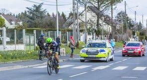 Le cycliste Steven Tronet - 2016 Paris-gentil photos stock
