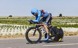 Le cycliste Thomas Danielson Images libres de droits