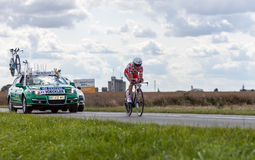 Le cycliste Thomas Voeckler Images stock