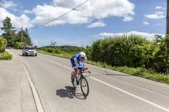 Le cycliste Tim Declercq - Criterium du Dauphine 2017 Images libres de droits