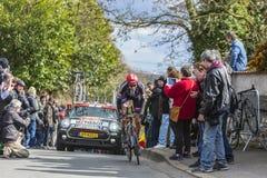 Le cycliste Tobias Ludvigsson - 2016 Paris-gentil Images libres de droits