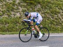 Le cycliste Tom Dumoulin Images libres de droits