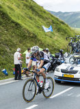Le cycliste Tom Dumoulin sur le col de Peyresourde - Tour de France Photographie stock libre de droits