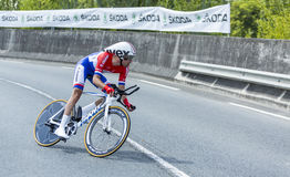 Le cycliste Tom Dumoulin - Tour de France 2014 Photographie stock