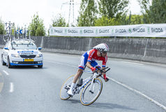 Le cycliste Tom Dumoulin - Tour de France 2014 Photos stock