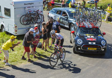 Le cycliste Tom Dumoulin - Tour de France 2016 Photos libres de droits
