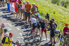 Le cycliste Tom Dumoulin - Tour de France 2016 Images libres de droits