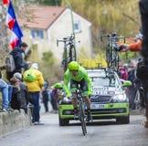 Le cycliste Tom-Jelte Slagter - 2016 Paris-gentil Image libre de droits