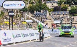 Le cycliste Tom Leezer Images stock