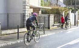Le cycliste Tom Scully - 2018 Paris-gentil images stock