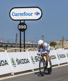 Le cycliste Tom Veelers Photo stock