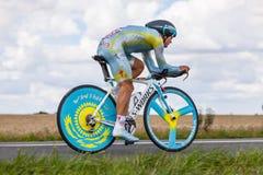 Le cycliste Vinokourov Alexandre de Kazak Images libres de droits