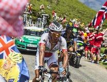 Le cycliste Yukiya Arashiro Images stock